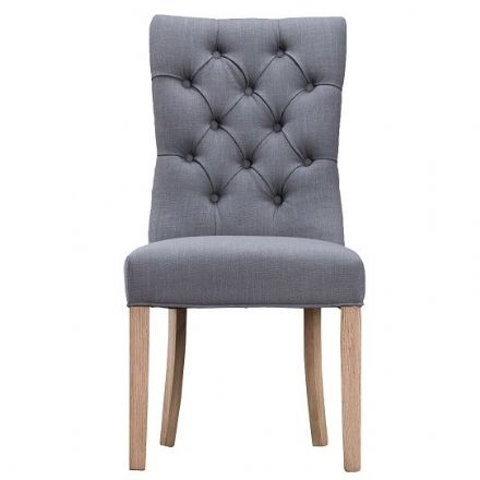 Loire Grey Curved Button Back Chair